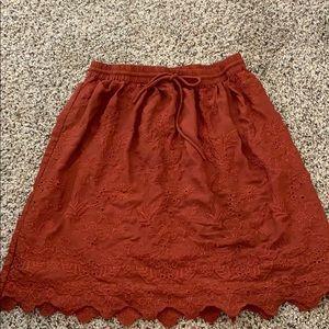 Burnt Orange LOFT skirt